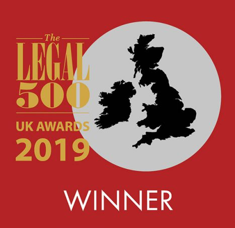 Photo of ERSKINE NAMED INSOLVENCY SET OF THE YEAR BY THE LEGAL 500 UK AWARDS 2019